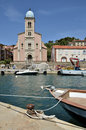 Port and church of Port-Vendres in France Royalty Free Stock Photos