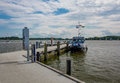 Port in the city of Schleswig! Royalty Free Stock Photo