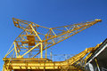Port crane with clear blue sky Stock Photography