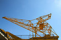 Port crane with clear blue sky Stock Photo