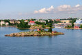 Port de Helsinki, Finlande Photo stock