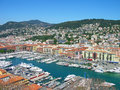 Port de Nice, Cote d'Azur, France Photographie stock libre de droits