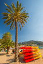 Port de Soller beach Royalty Free Stock Photography