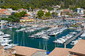 Port de soller in majorca spain balearic islands Stock Image