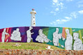 Port elizabeth wall in south africa Royalty Free Stock Images