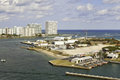 Port Everglades Inlet in Fort Lauderdale, Florida Royalty Free Stock Photo