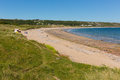 Port eynon bay the gower peninsula wales uk popular tourist destination and near oxwich and three cliffs on a summer day with Stock Image