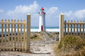 Port Fairy Lighthouse, Griffiths Island, Great Ocean Road Royalty Free Stock Photo