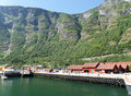 Port for fjord cruise in summer, Flam of Norway Royalty Free Stock Photo