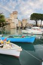 Port and fortress of Sirmione Royalty Free Stock Photo