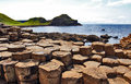 Port ganny from giants causeway antrim coastline northern ireland the is the most popular tourist destination Stock Images
