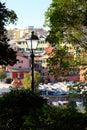 Port of Genoa Nervi from  the Promenade. Royalty Free Stock Photo