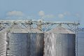 Port grain dryer in the of odessa ukraine Royalty Free Stock Images
