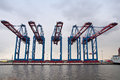 Port hamburg container terminal Stock Photography