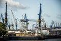 Port Hamburg Germany biggest industrial Harbor 4 Royalty Free Stock Photo