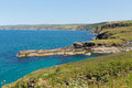 Port isaac coast north cornwall england facing direction of tintagel Royalty Free Stock Photo