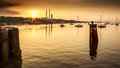 Port Jefferson Sunset Royalty Free Stock Photo