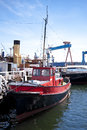 Port of kiel maritime scene in germany Royalty Free Stock Images