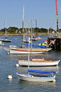 Port of la trinité sur mer in france sailboats the commune the morbihan department brittany region north western Royalty Free Stock Photo