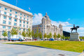 Port of liverpool building in downtown england uk Stock Images