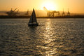 Port of Long Beach Sailboat Royalty Free Stock Photo