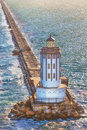 Port of Los Angeles Lighthouse Royalty Free Stock Photo