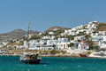 Port of Mikonos Town, island of Mykonos, Cyclades Islands Royalty Free Stock Photo