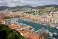 Port of nice above view the france Stock Photos