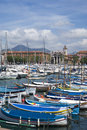 Port of nice french riviera the harbour Stock Image