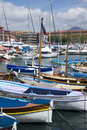 Port of nice french riviera the harbour Royalty Free Stock Images