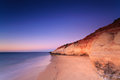 Port noarlunga cliffs at twilight port noarlunga south australia australia Stock Photography