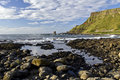 Port noffer from giants causeway the antrim coast northern ireland the is the most popular tourist destination Royalty Free Stock Photos