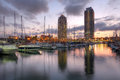 Port Olimpic, Barcelona, Spain Royalty Free Stock Photo