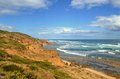 Port phillip bay s point nepean national park ocean coastline near sight where australian priminister harold halt went missing Stock Images
