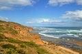 Port phillip bay s point nepean national park ocean coastline near sight where australian priminister harold halt went missing Stock Images