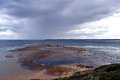 Port phillip bay s treacherous rip entrance point nepean point lonsdale melbourne australia Stock Images