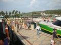 Port in phuket thailand Stock Images