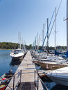 Port principal de lions sur le lac huron Photos stock