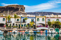 Port In Puerto de Mogan, Gran Canaria, Spain Royalty Free Stock Photo