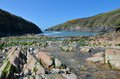 Port quin the beach at cornwall Royalty Free Stock Photos
