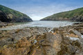 Port quin in cornwall england uk Royalty Free Stock Photo