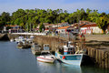 Port of Saint Trojan in France Stock Photography
