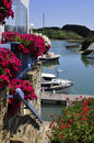 Port of Sauzon at Belle Ile in France Stock Photography