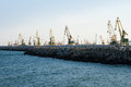 Port sea shipping harbor landscape Royalty Free Stock Photo