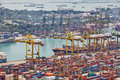 The port of singapore december on december in it s world s busiest transshipment and world s Royalty Free Stock Photography