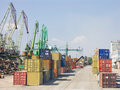 Port of transhipment Stock Photo