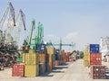 Port of transhipment Royalty Free Stock Photo