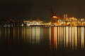 Port of Vancouver Night Royalty Free Stock Photo