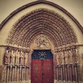 Porta coeli gothic portal of the romanesque gothic basilica of the assumption of the virgin mary czech republic built in Royalty Free Stock Image