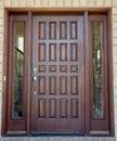 Porta da rua de madeira Foto de Stock